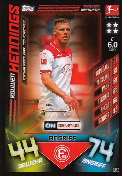 #OD152 Rouwen Hennings (Fortuna Dusseldorf) Match Attax Bundesliga 2019-20 ON DEMAND
