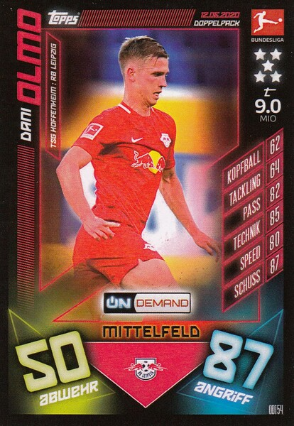 #OD154 Dani Olmo (RB Leipzig) Match Attax Bundesliga 2019-20 ON DEMAND
