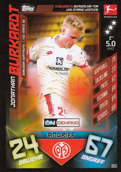 #OD161 Jonathan Burkardt (FSV Mainz 05) Match Attax Bundesliga 2019-20 ON DEMAND
