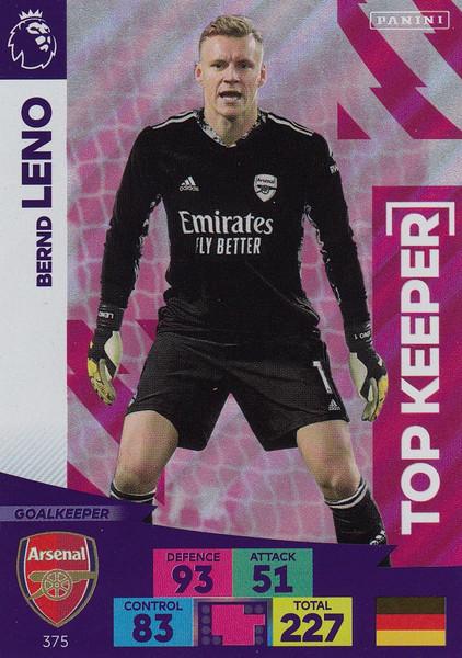 #375 Bernd Leno (Arsenal) Adrenalyn XL Premier League 2020/21 TOP KEEPER