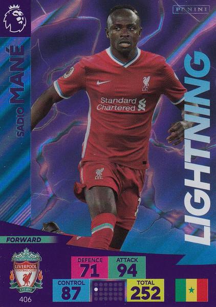 #406 Sadio Mane (Liverpool) Adrenalyn XL Premier League 2020/21 LIGHTNING