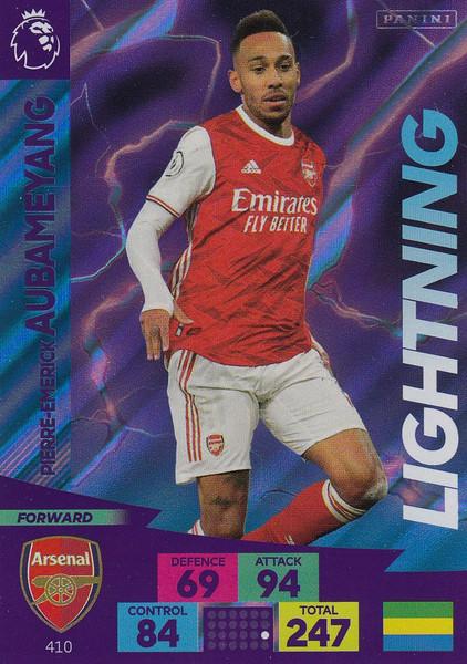 #410 Pierre-Emerick Aubameyang (Arsenal) Adrenalyn XL Premier League 2020/21 LIGHTNING