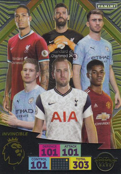 #5 Invincible Adrenalyn XL Premier League 2020/21