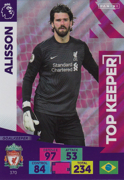 #370 Alisson Becker (Liverpool) Adrenalyn XL Premier League 2020/21 TOP KEEPER
