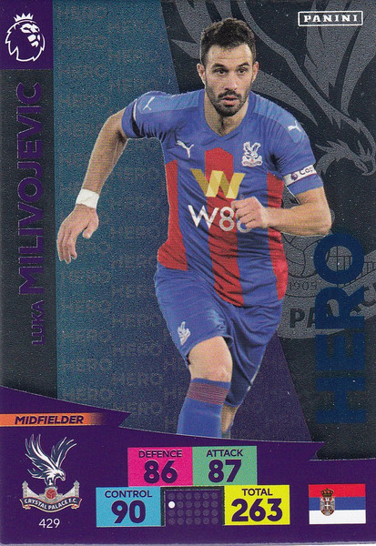 #429 Luka Milivojevic (Crystal Palace) Adrenalyn XL Premier League 2020/21 HERO