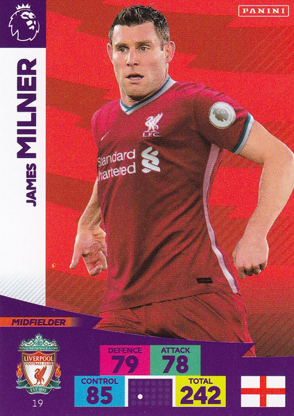 #19 James Milner (Liverpool) Adrenalyn XL Premier League 2020/21
