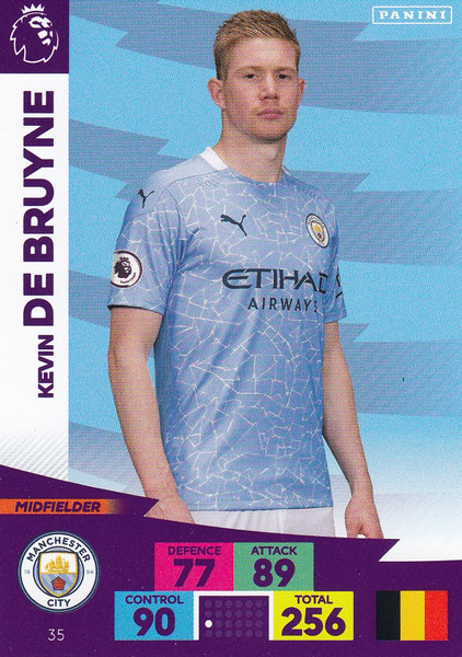 #35 Kevin De Bruyne (Manchester City) Adrenalyn XL Premier League 2020/21