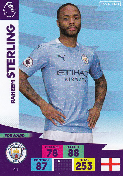 #44 Raheem Sterling (Manchester City) Adrenalyn XL Premier League 2020/21