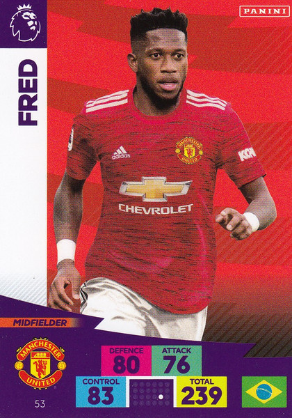 #53 Fred (Manchester United) Adrenalyn XL Premier League 2020/21