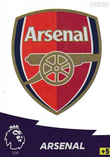 #100 Club Badge (Arsenal) Adrenalyn XL Premier League 2020/21