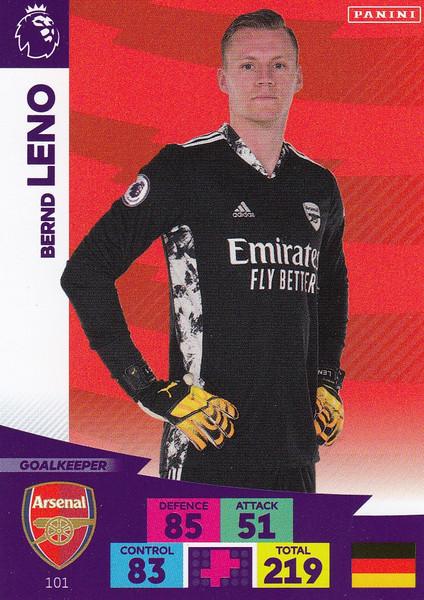 #101 Bernd Leno (Arsenal) Adrenalyn XL Premier League 2020/21