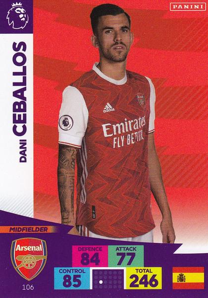 #106 Dani Ceballos (Arsenal) Adrenalyn XL Premier League 2020/21