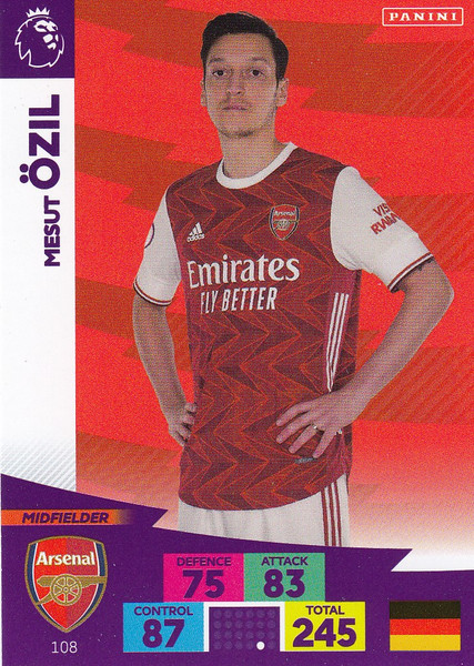 #108 Mesut Ozil (Arsenal) Adrenalyn XL Premier League 2020/21