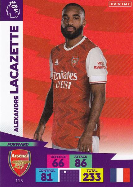 #113 Alexandre Lacazette (Arsenal) Adrenalyn XL Premier League 2020/21