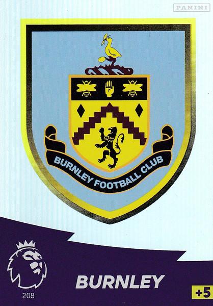 #208 Club Badge (Burnley) Adrenalyn XL Premier League 2020/21