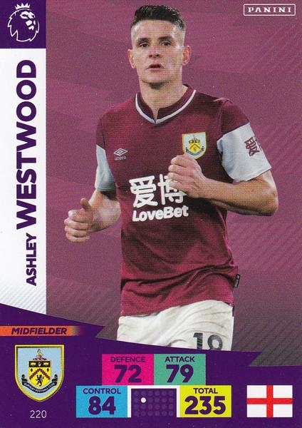 #220 Ashley Westwood (Burnley) Adrenalyn XL Premier League 2020/21
