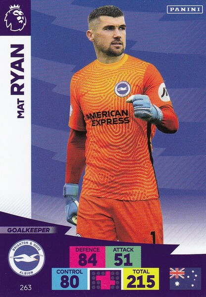 #263 Mat Ryan (Brighton & Hove Albion) Adrenalyn XL Premier League 2020/21