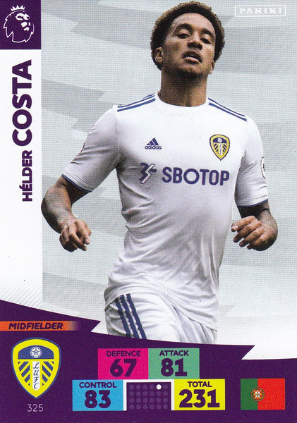#325 Helder Costa (Leeds United) Adrenalyn XL Premier League 2020/21