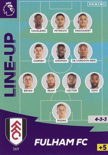 #369 Line Up (Fulham) Adrenalyn XL Premier League 2020/21