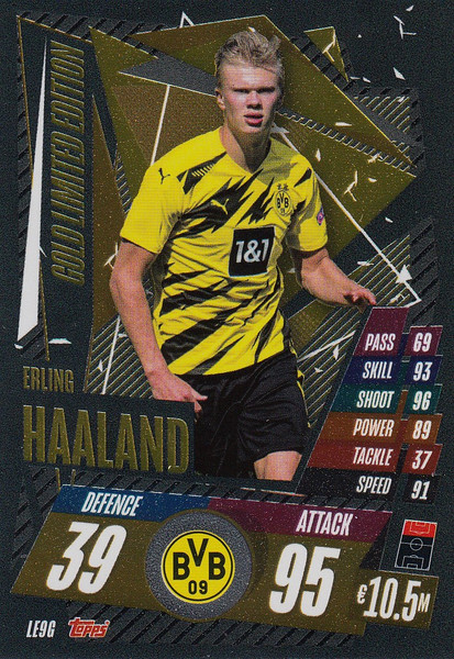 #LE9G Erling Braut Haaland (Borussia Dortmund) Match Attax Champions League 2020/21 GOLD LIMITED EDITION