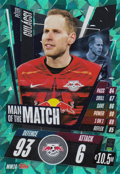 #MM16 Péter Gulácsi (RB Leipzig) Match Attax Champions League 2020/21 MAN OF THE MATCH