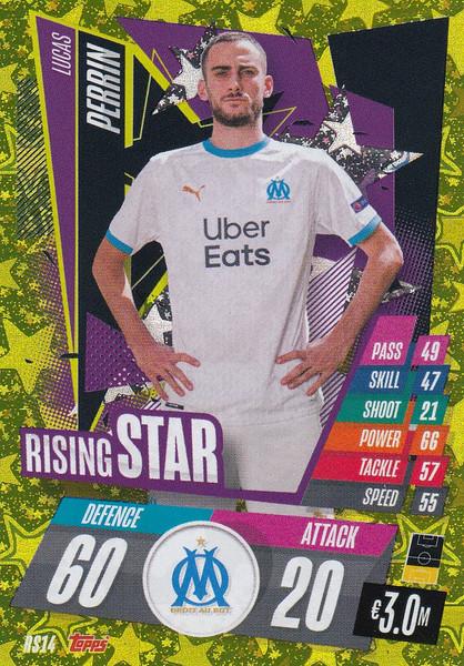 #RS14 Lucas Perrin (Olympique de Marseille) Match Attax Champions League 2020/21 RISING STAR