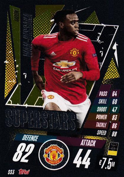 #SS3 Aaron Wan-Bissaka (Manchester United) Match Attax Champions League 2020/21 SUPERSTAR