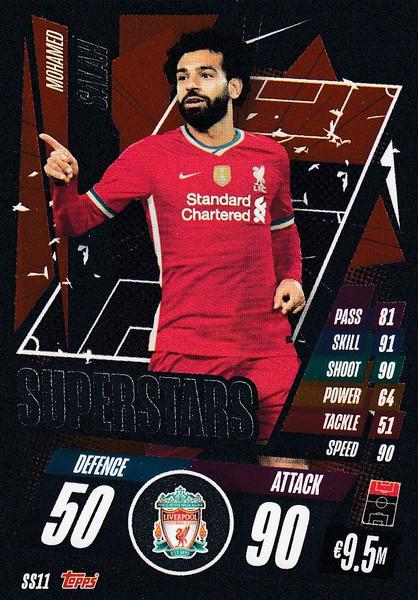 #SS11 Mohamed Salah (Liverpool) Match Attax Champions League 2020/21 SUPERSTAR