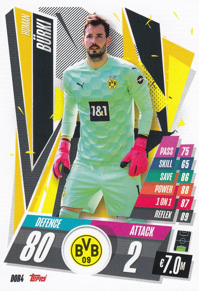 #DOR4 Roman Bürki (Borussia Dortmund) Match Attax Champions League 2020/21