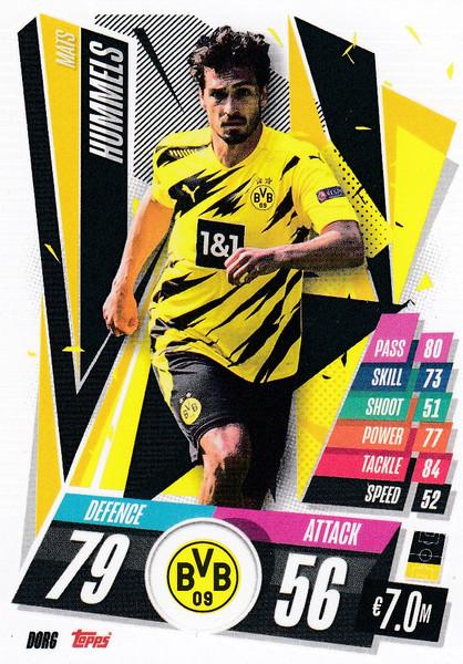 #DOR6 Mats Hummels (Borussia Dortmund) Match Attax Champions League 2020/21