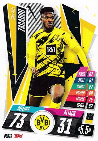 #DOR10 Dan-Axel Zagadou (Borussia Dortmund) Match Attax Champions League 2020/21