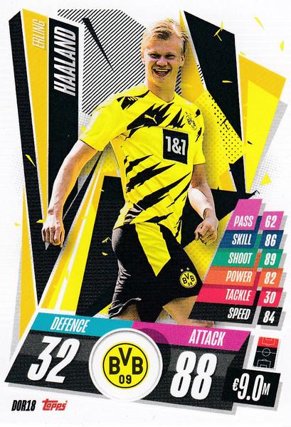 #DOR18 Erling Haaland (Borussia Dortmund) Match Attax Champions League 2020/21