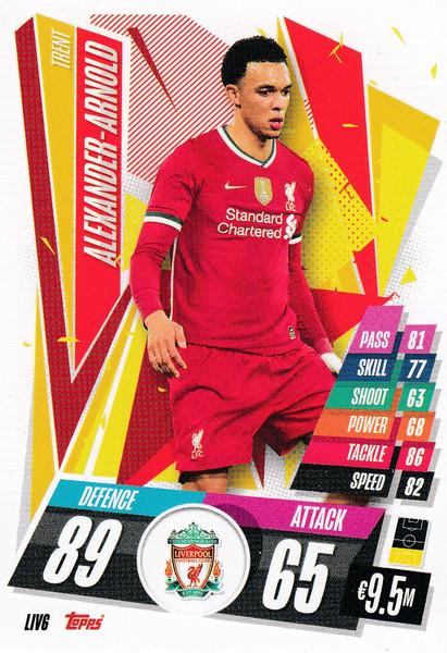 #LIV6 Trent Alexander-Arnold (Liverpool FC) Match Attax Champions League 2020/21