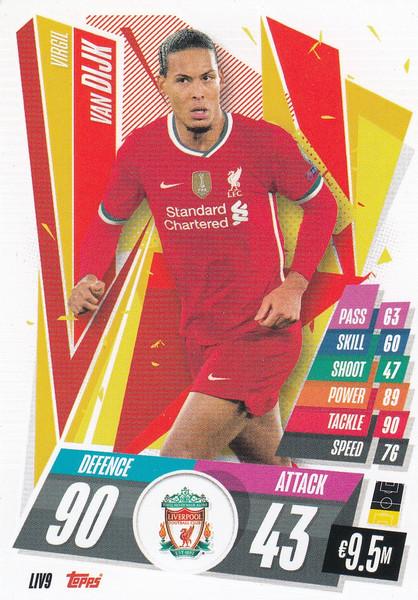 #LIV9 Virgil van Dijk (Liverpool FC) Match Attax Champions League 2020/21