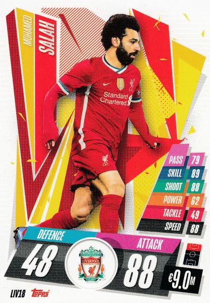 #LIV18 Mohamed Salah (Liverpool FC) Match Attax Champions League 2020/21