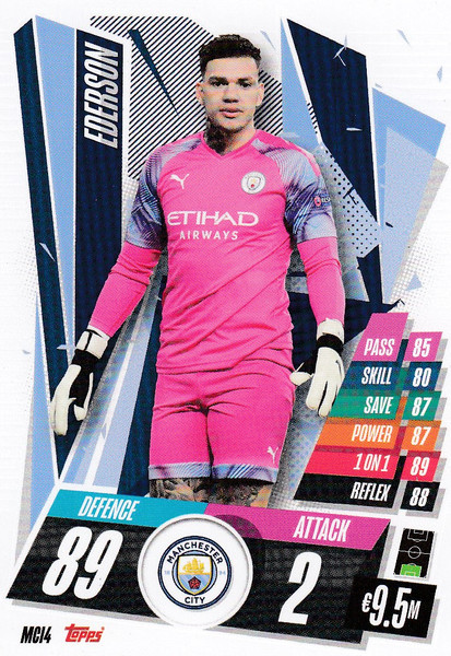 #MCI4 Ederson (Manchester City) Match Attax Champions League 2020/21