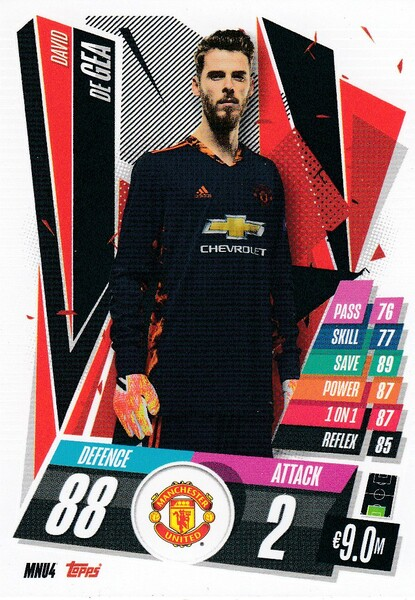 #MNU4 David De Gea (Manchester United) Match Attax Champions League 2020/21