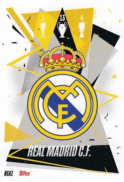 #REA1 Club Badge (Real Madrid CF) Match Attax Champions League 2020/21