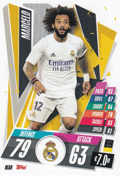 #REA9 Marcelo (Real Madrid CF) Match Attax Champions League 2020/21