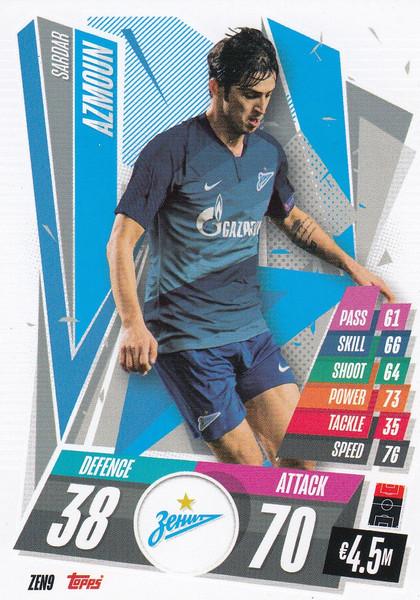 #ZEN9 Sardar Azmoun (FC Zenit) Match Attax Champions League 2020/21