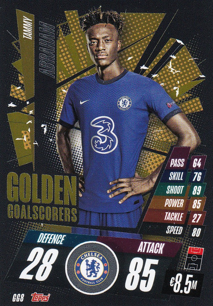 #GG8 Tammy Abraham (Chelsea) Match Attax Champions League 2020/21 GOLDEN GOALSCORERS