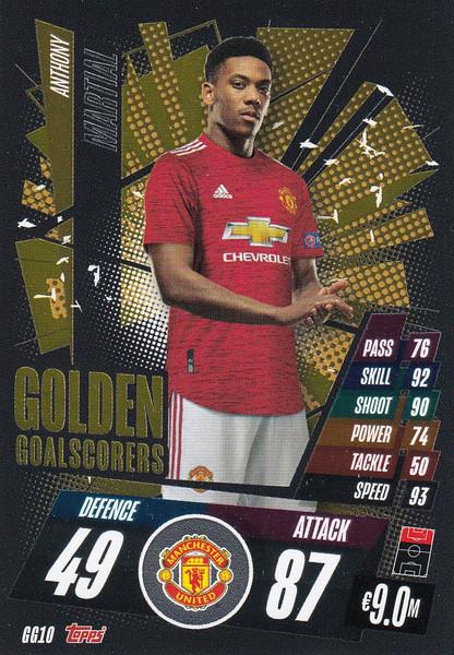 #GG10 Anthony Martial (Manchester United) Match Attax Champions League 2020/21 GOLDEN GOALSCORERS