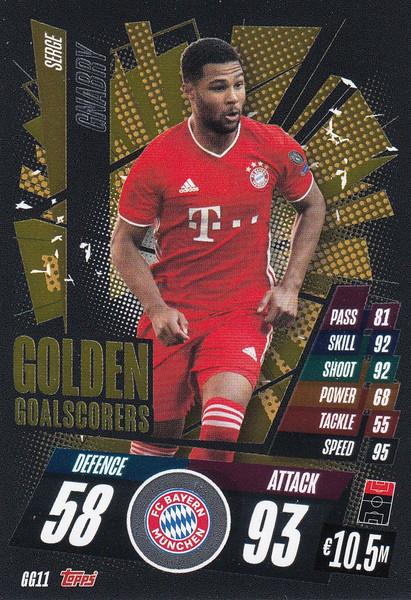 #GG11 Serge Gnabry (FC Bayern München) Match Attax Champions League 2020/21 GOLDEN GOALSCORERS