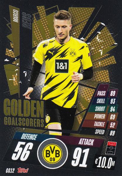 #GG12 Marco Reus (Borussia Dortmund) Match Attax Champions League 2020/21 GOLDEN GOALSCORERS
