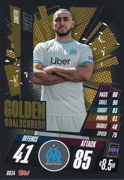 #GG14 Dimitri Payet (Olympique de Marseille) Match Attax Champions League 2020/21 GOLDEN GOALSCORERS