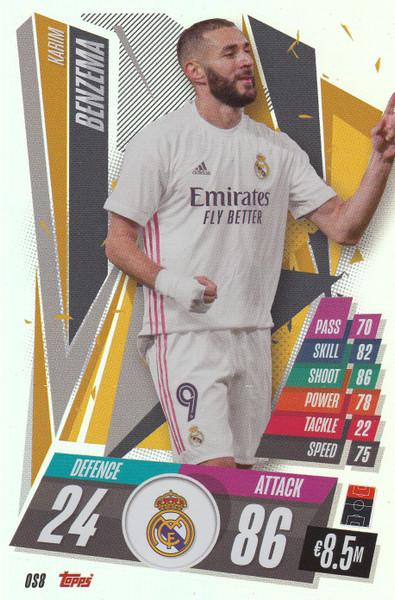 #OS8 Karim Benzema (Real Madrid CF) Match Attax Champions League 2020/21 XL LIMITED EDITION