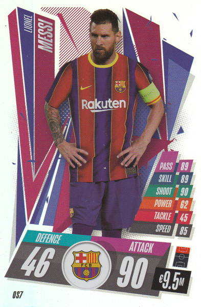#OS7 Lionel Messi (FC Barcelona) Match Attax Champions League 2020/21 XL LIMITED EDITION