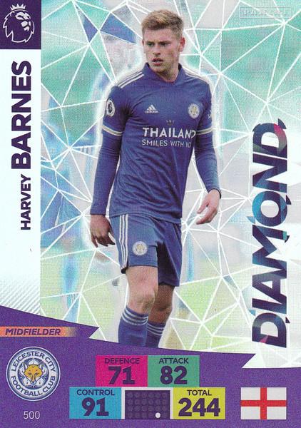 #500 Harvey Barnes (Leicester City) Adrenalyn XL Premier League PLUS 2020/21 DIAMONDS