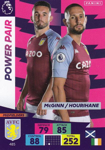 #485 McGinn/ Hourihane (Aston Villa) Adrenalyn XL Premier League PLUS 2020/21 POWER PAIRS