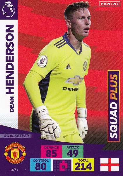 #47+ Dean Henderson (Manchester United) Adrenalyn XL Premier League PLUS 2020/21 SQUAD PLUS